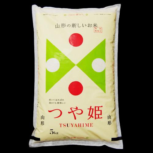 【令和元年産・新米】特A(10回以上)●柔らかで、ご飯のつや自慢のお米です。  JA山形おきたま地区産  特別栽培米 『つや姫』 5kg